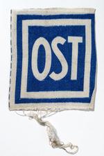 Stoffabzeichen für Ostarbeiter, um 1942